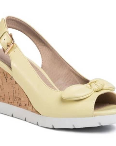 Žlté sandále Clara Barson