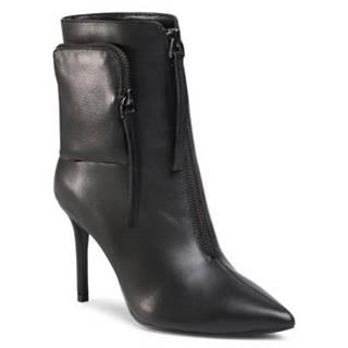 Členkové topánky Gino Rossi Premium V369-121-1 koža(useň) lícová