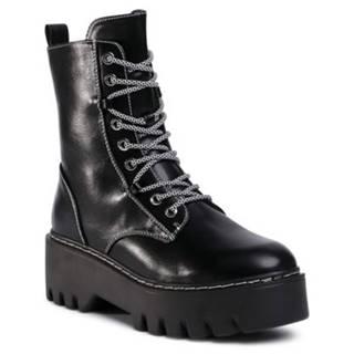Šnurovacia obuv DeeZee WS5162-02 koža ekologická