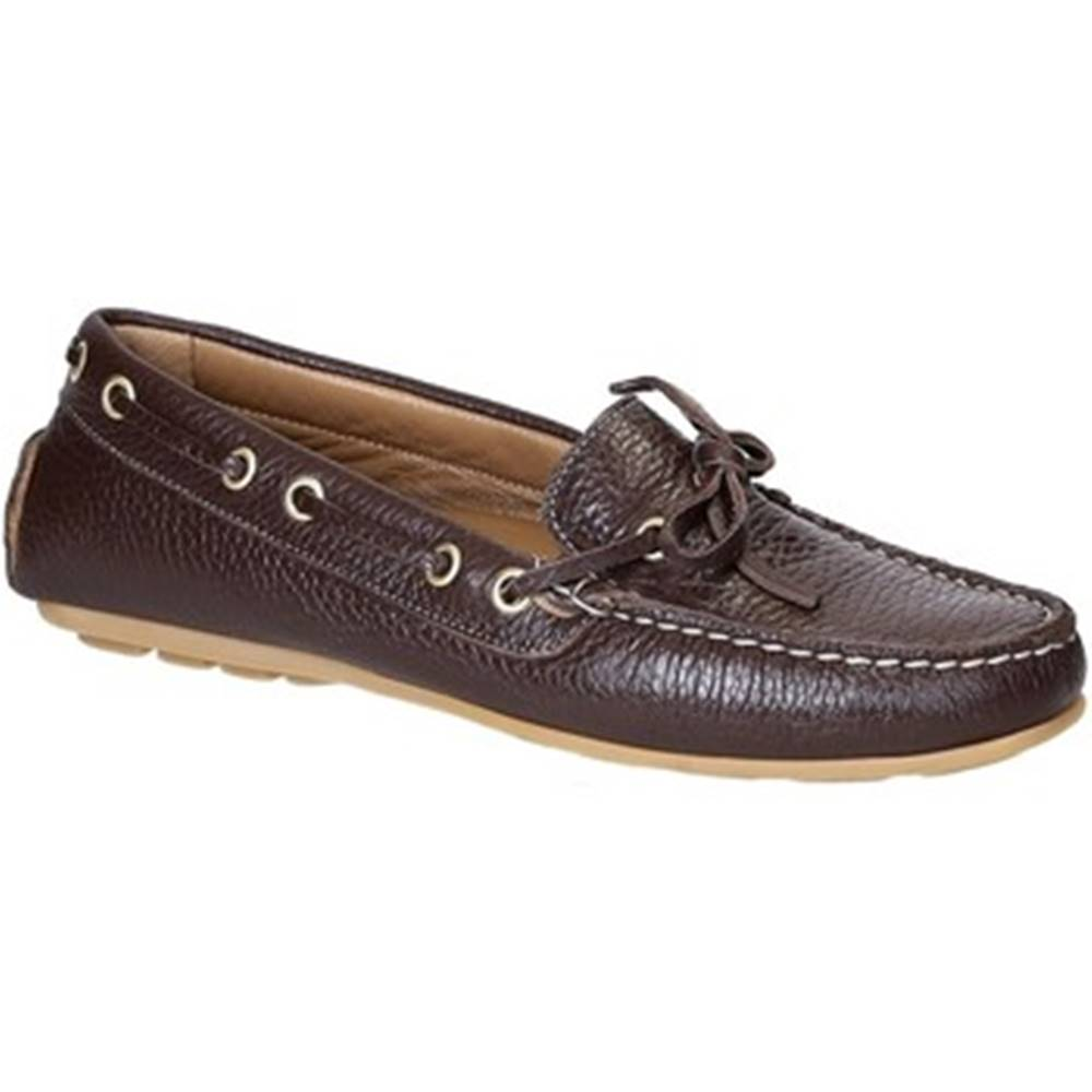 Leonardo Shoes Mokasíny Leonardo Shoes  3040 VITELLO-GOMMA MORO