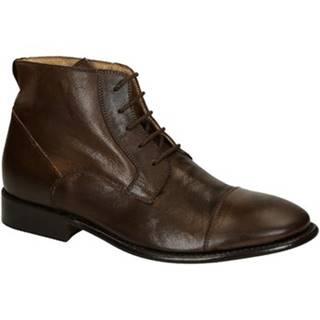 Polokozačky Leonardo Shoes  PINA 3022 CAVALLO T MORO
