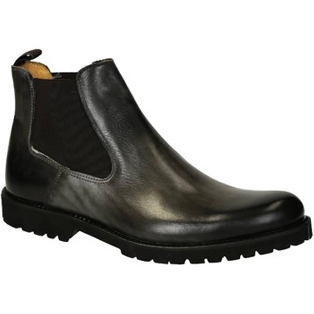 Leonardo Shoes Polokozačky Leonardo Shoes  T042 SIVIGLIA GRIGIO