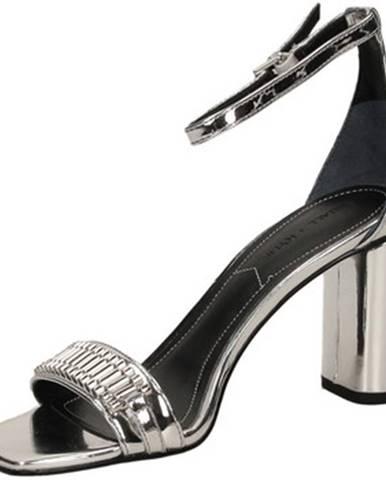 Strieborné topánky Kendall + Kylie