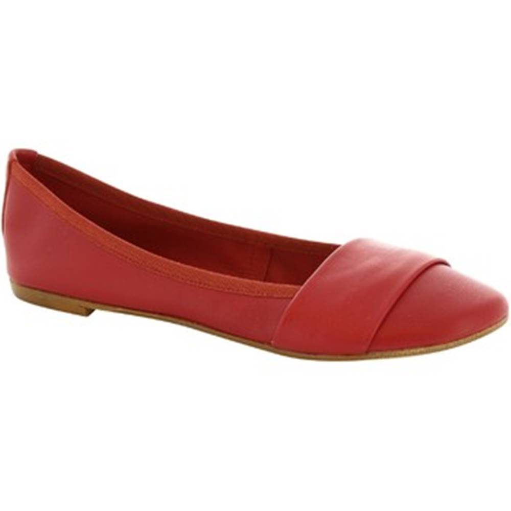 Leonardo Shoes Balerínky/Babies Leonardo Shoes  571-17/MICRO NAPPA ROSSO