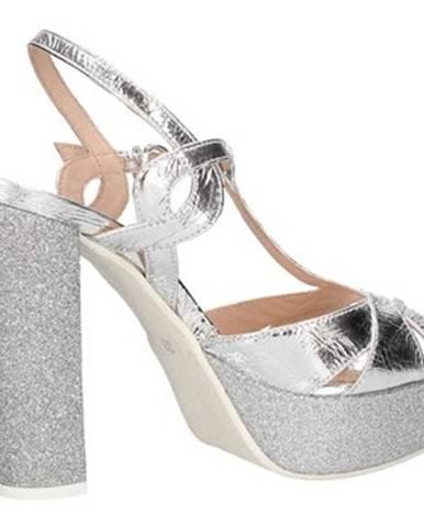 Strieborné topánky Lorenzo Mari