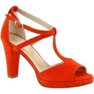 Sandále Leonardo Shoes  131CAMOSCIO ROSSO