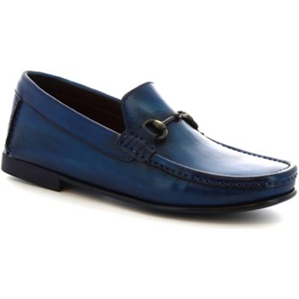 Leonardo Shoes Mokasíny  406 V. BLU