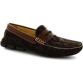 Mokasíny Leonardo Shoes  504 NIAGARA CRUST T. MORO