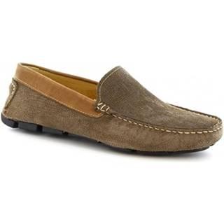 Mokasíny Leonardo Shoes  504 NIAGARA CRUST TOUPE