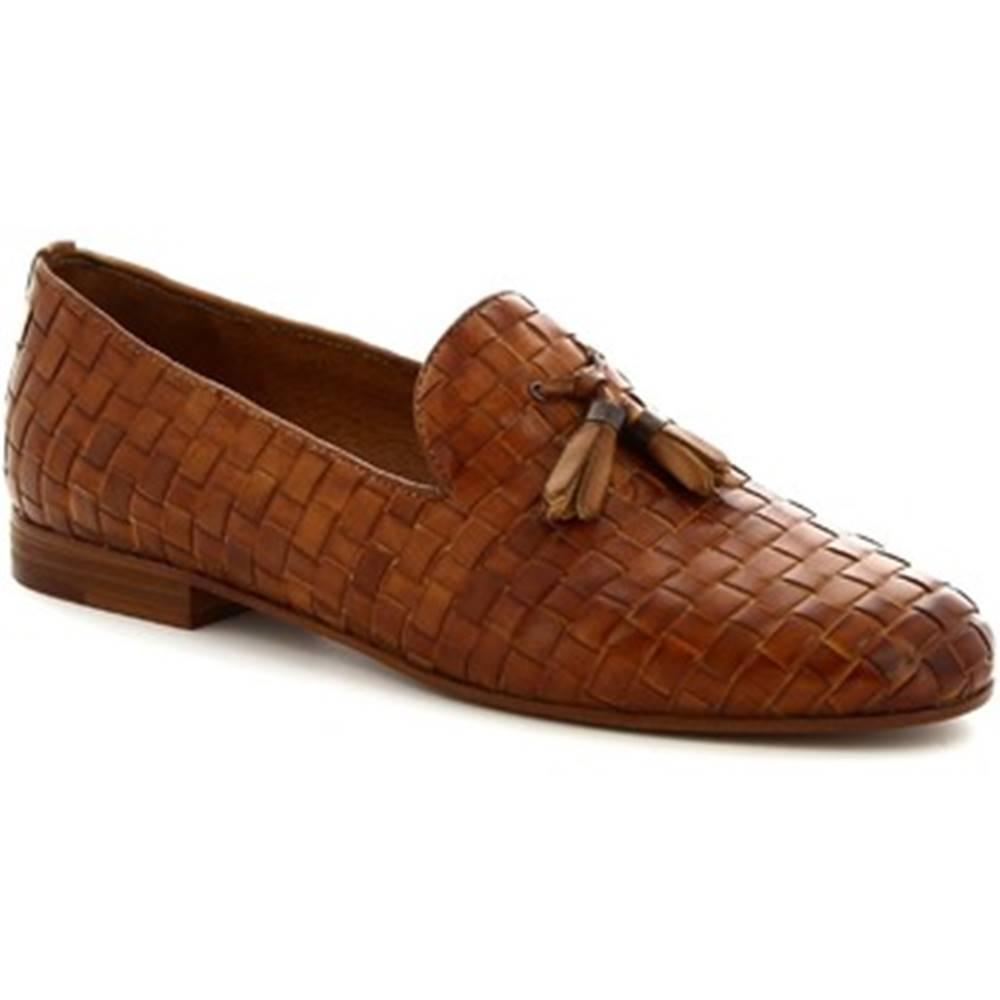 Leonardo Shoes Mokasíny Leonardo Shoes  K105 INTRECCIO CUOIO