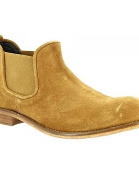 Žlté polokozačky Leonardo Shoes