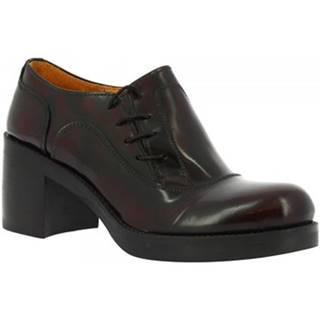 Nízke čižmy Leonardo Shoes  452-69 ABBRASIVA BORDO
