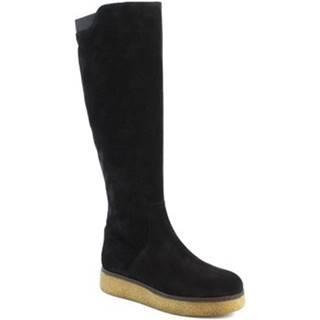 Čižmy do mesta Leonardo Shoes  3006/1 VEL V. NERO