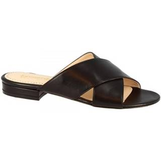 Šľapky Leonardo Shoes  010 NAPPA NERO