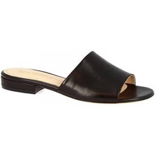 Šľapky Leonardo Shoes  016 NAPPA NERO
