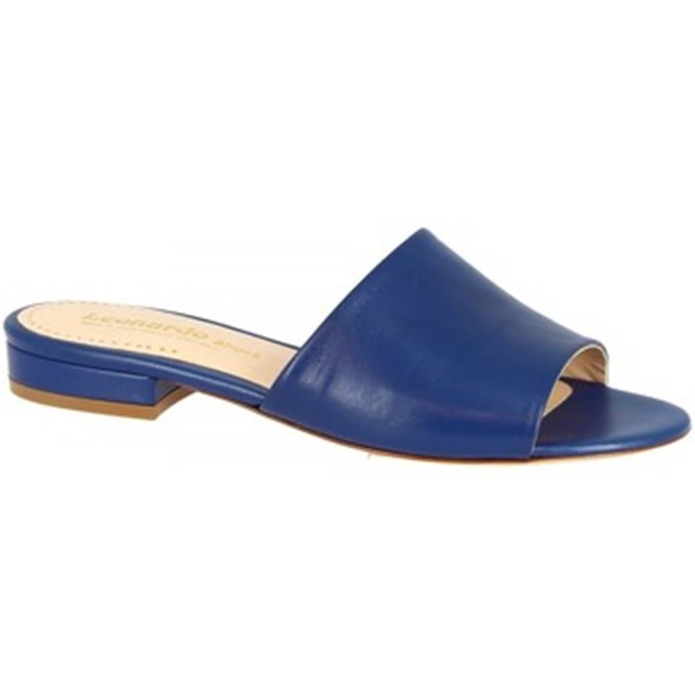 Leonardo Shoes Šľapky Leonardo Shoes  016 NAPPA COBALTO