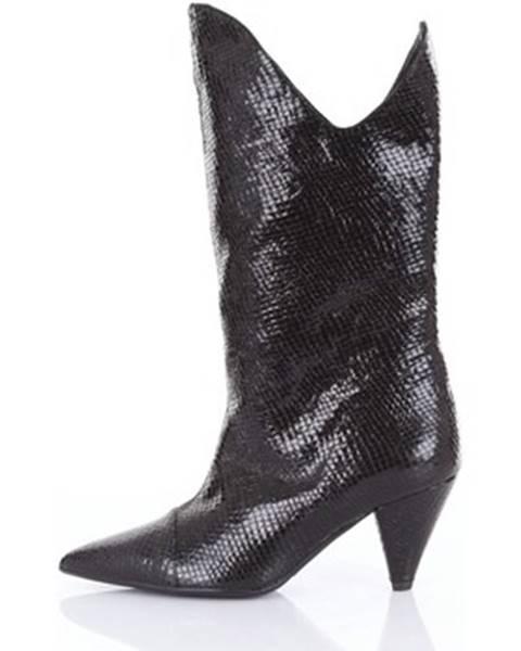 Čierne topánky Matteo Pitti