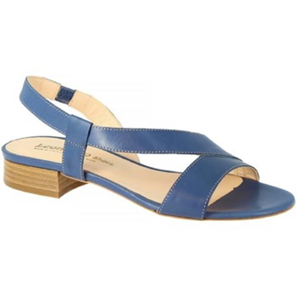 Leonardo Shoes Sandále Leonardo Shoes  3140 VITELLO COBALTO