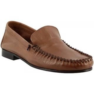 Mokasíny Leonardo Shoes  1301 VITELLO T. MORO