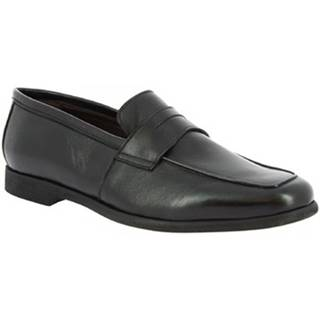 Mokasíny Leonardo Shoes  187/3 PAPUA NERO