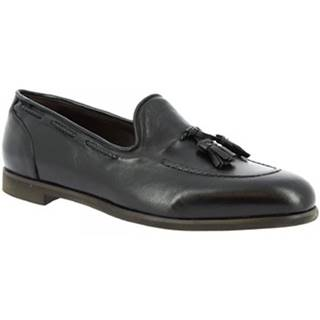 Mokasíny Leonardo Shoes  809/1 PAPUA NERO