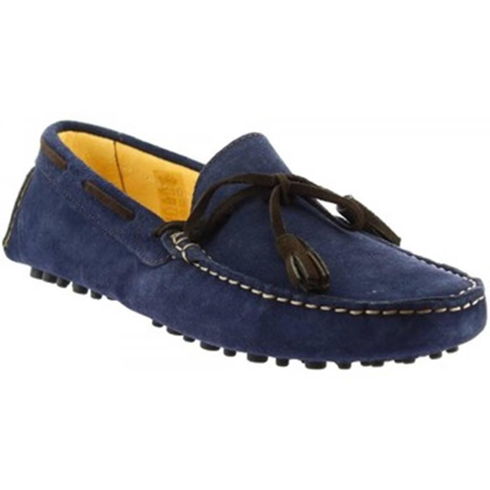Leonardo Shoes Mokasíny Leonardo Shoes  511 CAMOSCIO BLU