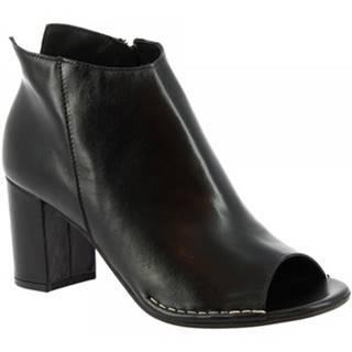 Čižmičky Leonardo Shoes  U204 TANGERI NERO