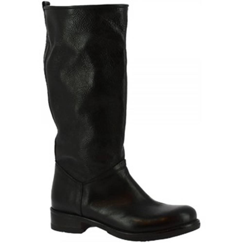 Leonardo Shoes Čižmy do mesta Leonardo Shoes  K609 ANTIK NERO