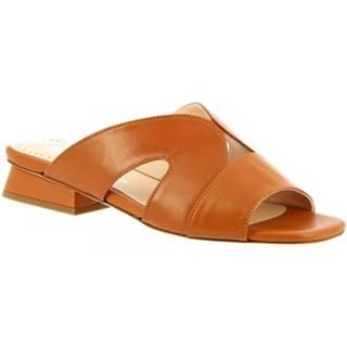Šľapky Leonardo Shoes  G13 NAPPA CUOIO