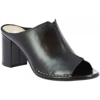 Šľapky Leonardo Shoes  U224 TANGERI NERO