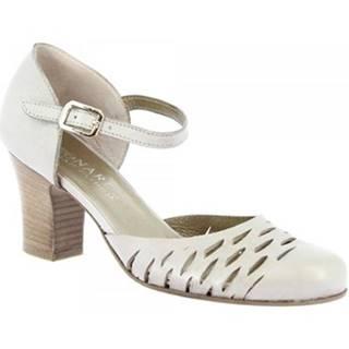 Lodičky Leonardo Shoes  U042 TANGERI PERLA