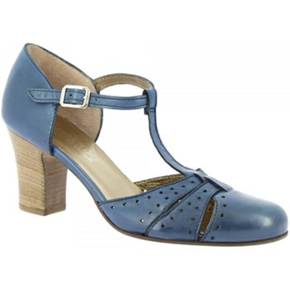 Leonardo Shoes Lodičky Leonardo Shoes  U041 TANGERI CERU
