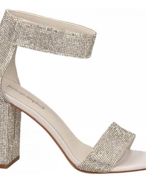 Strieborné topánky Jeffrey Campbell