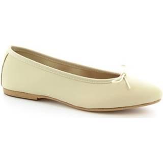 Balerínky/Babies Leonardo Shoes  6087 CUOIO NAPPA PANNA
