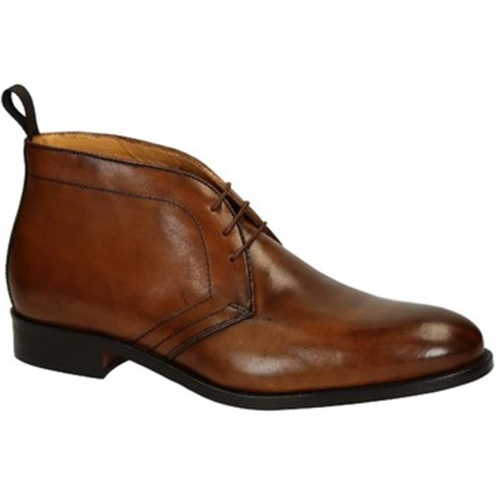 Leonardo Shoes Polokozačky Leonardo Shoes  07037 FORMA 40 NAIROBI NOCE