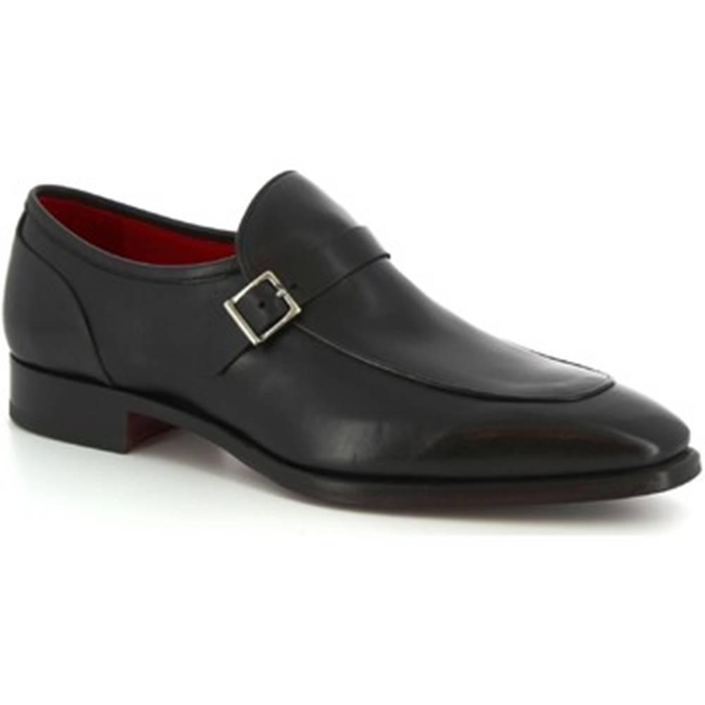 Leonardo Shoes Mokasíny  9053/19 TOM VITELLO NERO