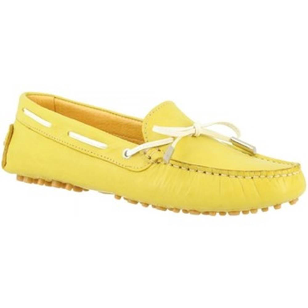 Leonardo Shoes Námornícke mokasíny Leonardo Shoes  502 VITELLO LIME PIOLI