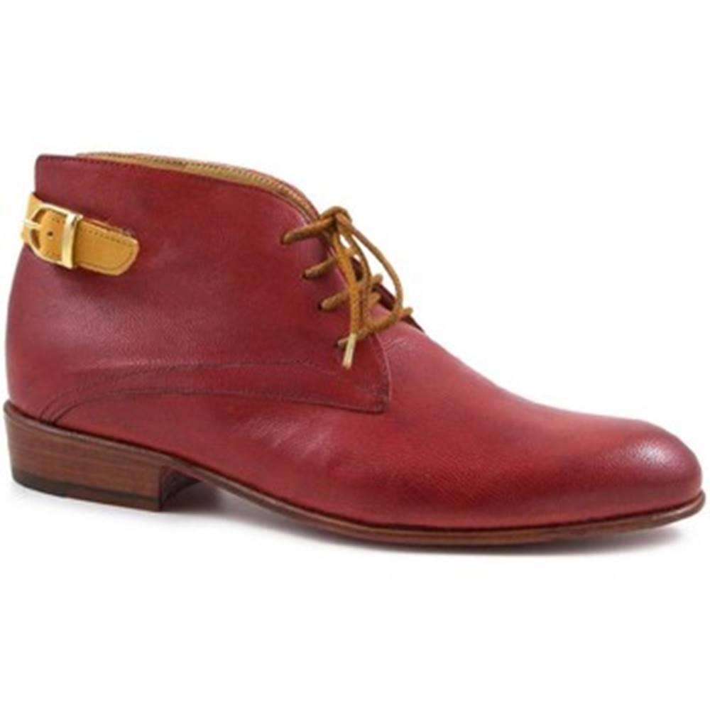 Leonardo Shoes Nízke čižmy Leonardo Shoes  PINA 045 RED/TAN