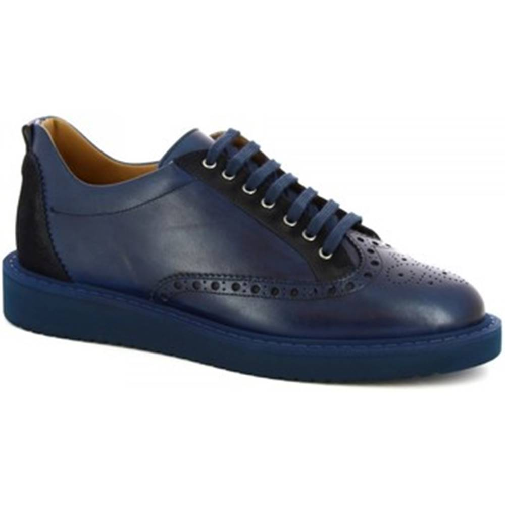 Leonardo Shoes Derbie Leonardo Shoes  1119_1 VITELLO BLUE