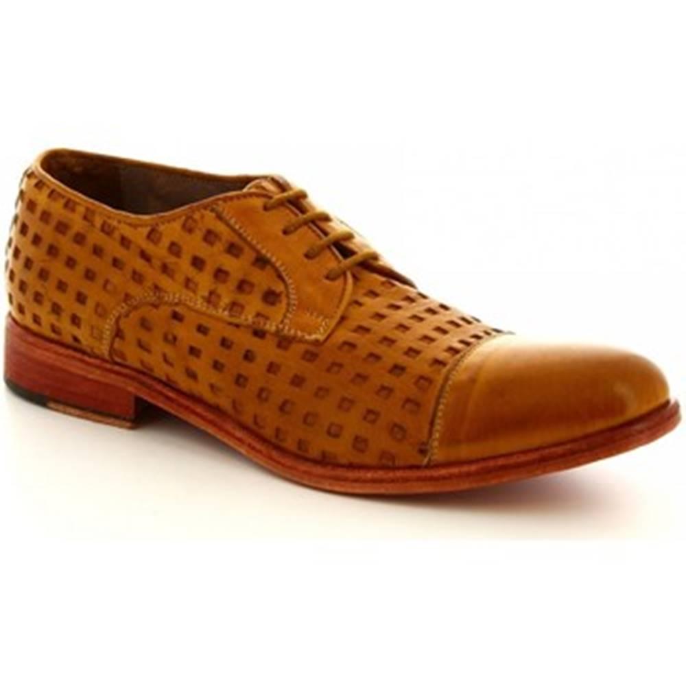 Leonardo Shoes Derbie  34337/3  PAPUA FOR TUFFATO OCRA