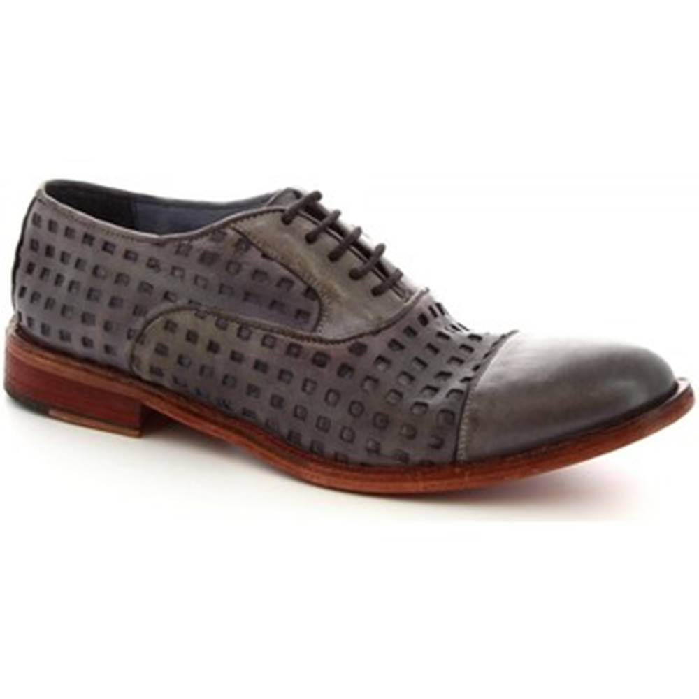 Leonardo Shoes Richelieu  34337/1 PAPUA FOR TUFFATO GRIGIO