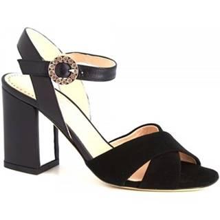 Sandále Leonardo Shoes  5704 CAMOSCIO NERO