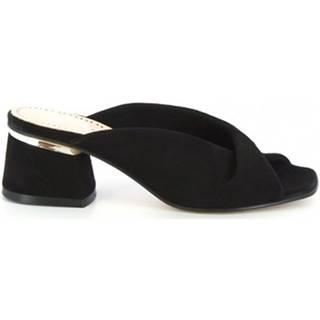 Sandále Leonardo Shoes  84 CAMOSCIO NERO