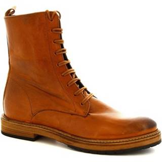 Polokozačky Leonardo Shoes  612 ROK CUOIO C