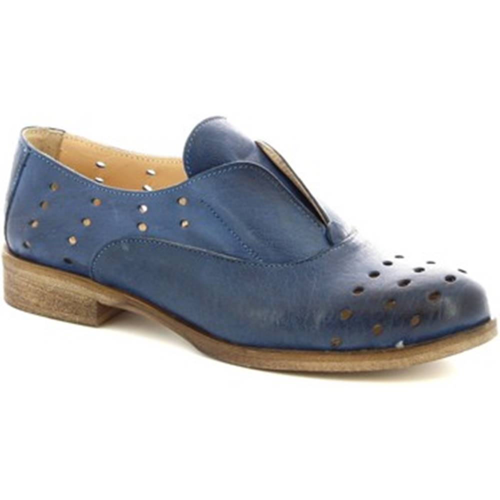 Leonardo Shoes Derbie  7 BLEU