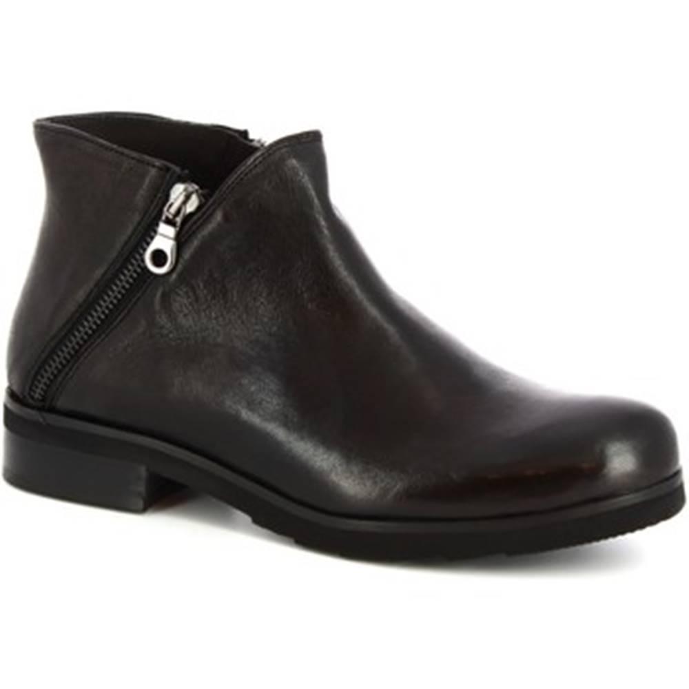 Leonardo Shoes Polokozačky Leonardo Shoes  4729  ROK NERO