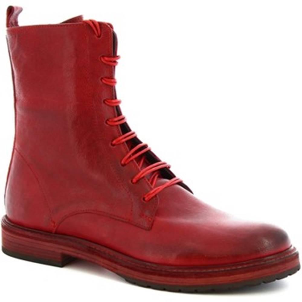 Leonardo Shoes Polokozačky Leonardo Shoes  612 ROK ROSSO