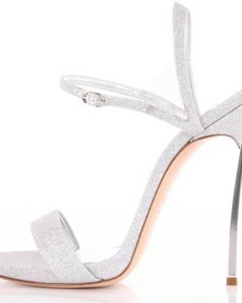 Strieborné topánky Casadei