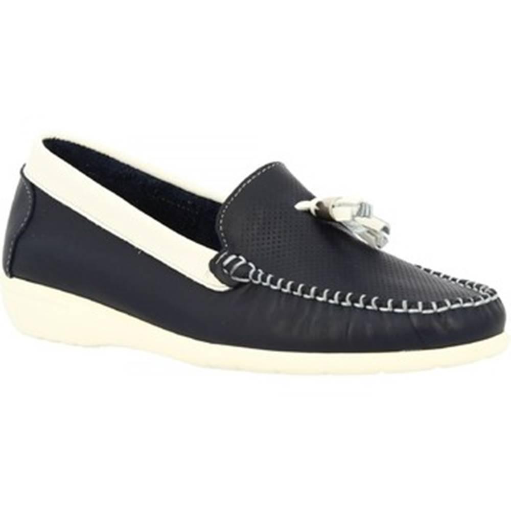Leonardo Shoes Mokasíny Leonardo Shoes  202VEN BLU BIANCO