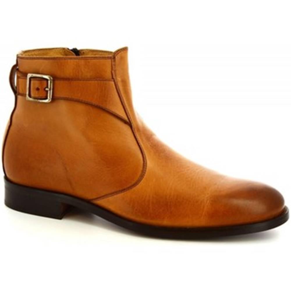 Leonardo Shoes Polokozačky Leonardo Shoes  07034/FORMA 40 GOLF BRANDY